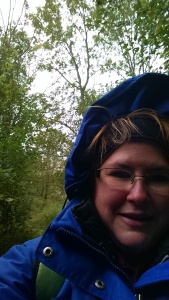 On my nature walk. It was 50 degrees and sprinkling.